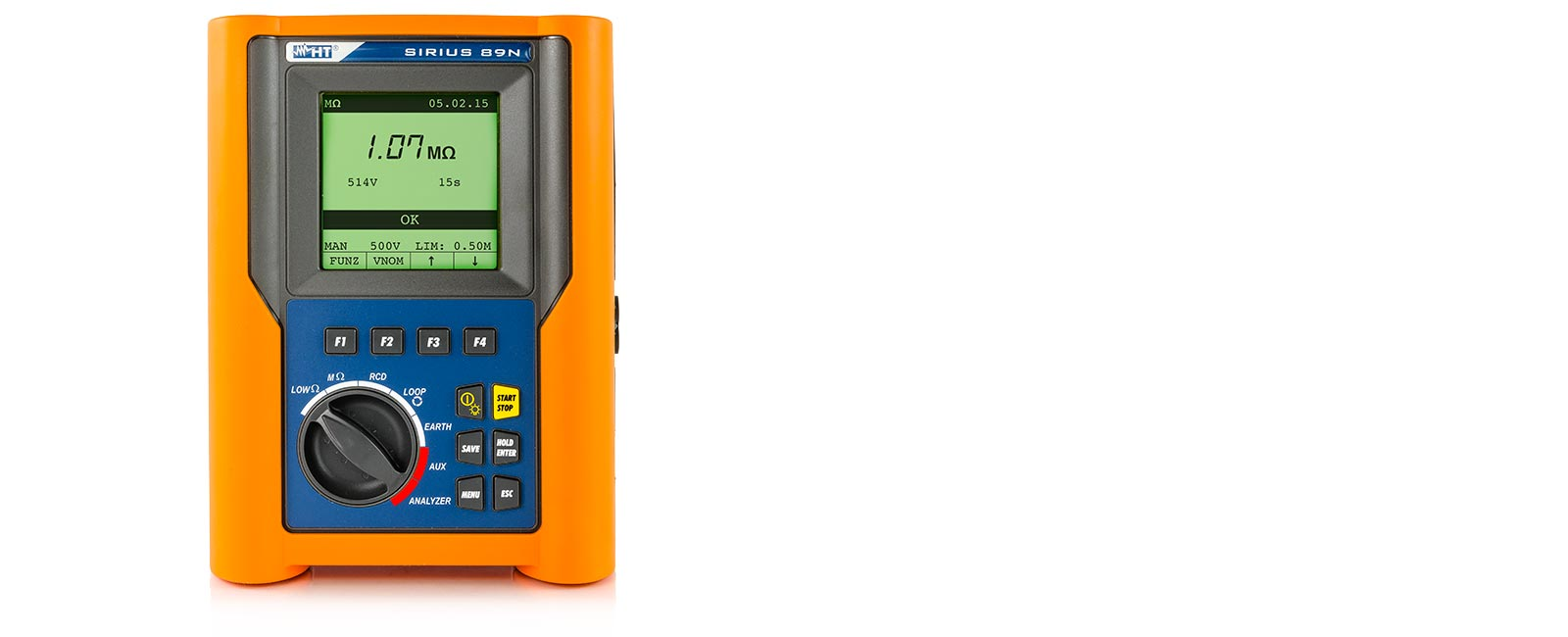 Multifunction installation tester for verification of electric safety and power quality analysis on single-phase installations
