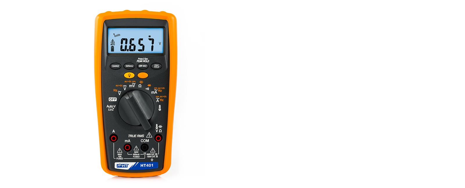 Professional TRMS multimeter with AC + DC measurement and low-impedance input LoZ