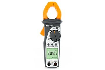 Professional clamp meter AC TRMS 400A with Power/Harmonics measurement