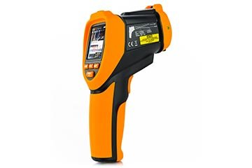 Professional infrared video thermometer with measurement of relative humidity, wet bulb and dew point