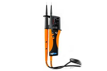 2-pole multifunction tester with LED indications and LED torch