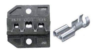 Matrix for non-insulated plug terminals