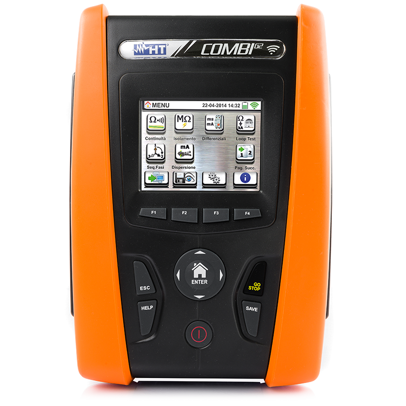 17th edition advanced installation tester with TouchScreen display and Wi-Fi compatible with APP HTANALYSIS™