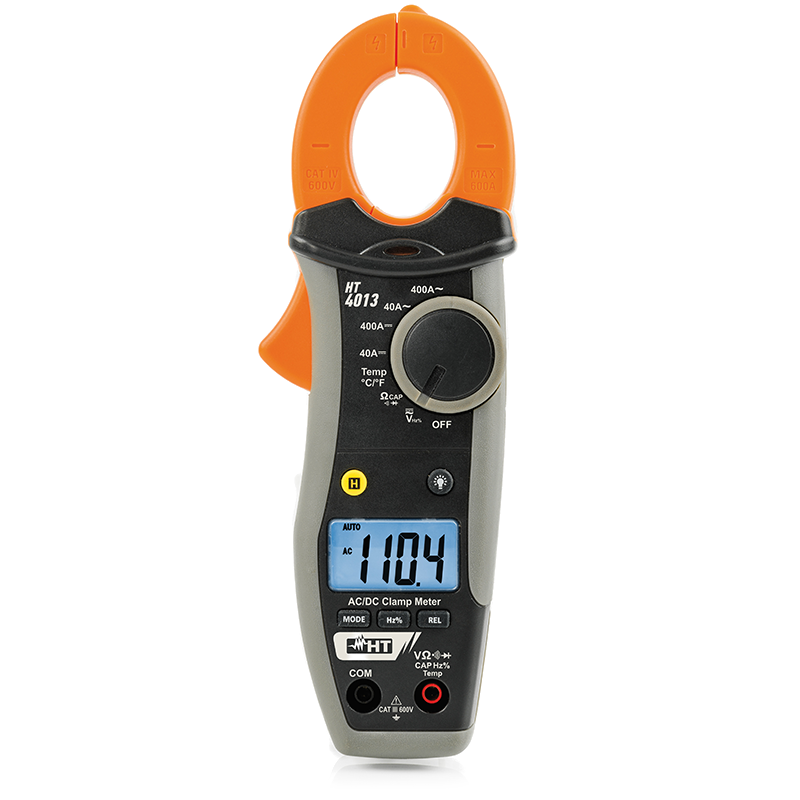 Clamp meter AC/DC 400A with temperature measurement with K-type probe